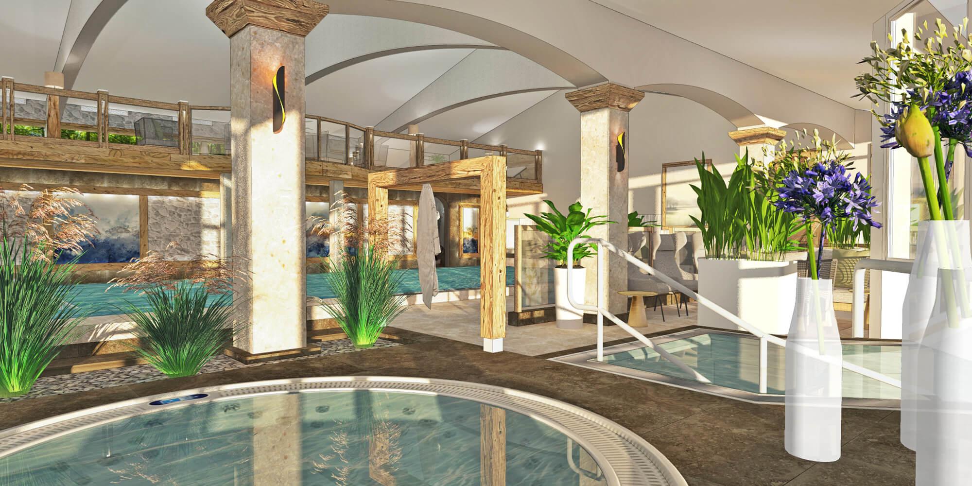 Crea-Plan-Design-Rauch-Frühmann-Architektur-Innenarchitektur-Design-Projekt-Referenz-Hotelerie-Gastronomie-Hotel-Bergknappenhof-Hallenbad-2